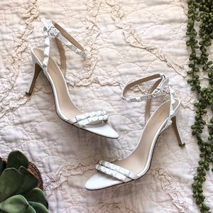 BCBGeneration White Studded Heeled Sandals